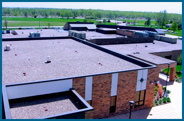 Commercial-Roofing ballasted