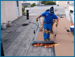 Commercial-Roofing torch-down