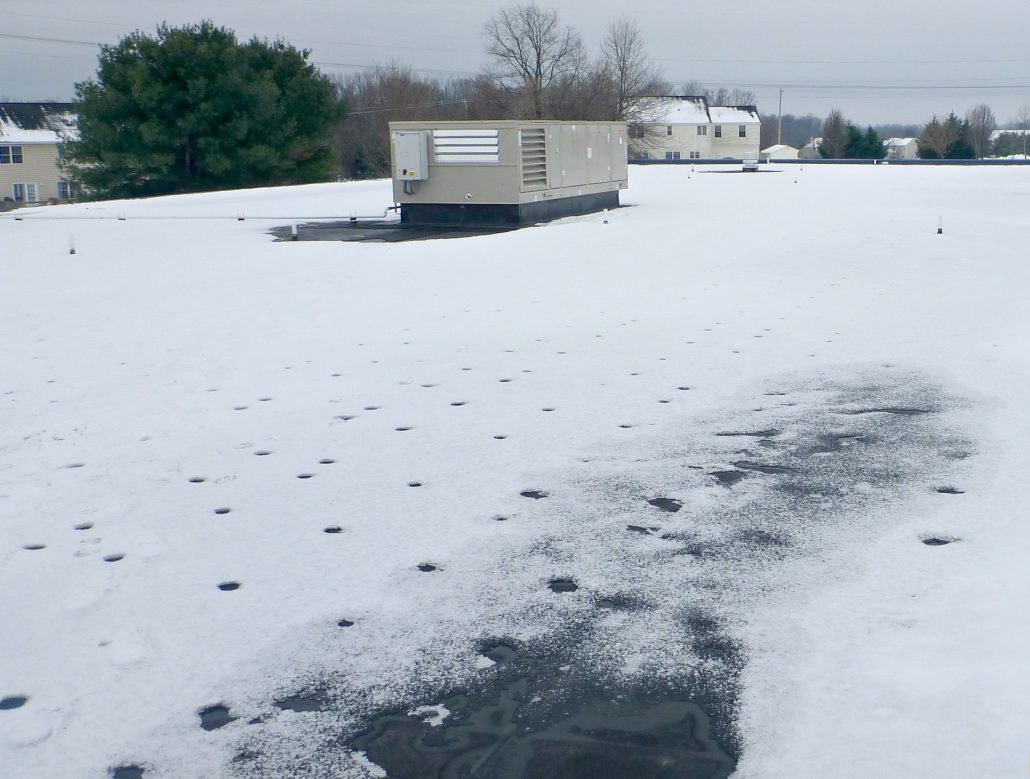 Flat Roof | Winter | Weathercraft Roofing | North Platte, NE
